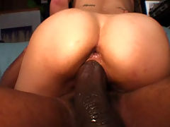 Ariel Rose, Huge Cock Junkies 2 : Asian babe Ariel Rose moaning while getting fucked by a monster cock