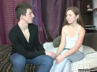 Curious teen explores casual sex : This handsome pickuper intrigues a cute teeny he met right on the street by promising to help her explore something she and aposs never tried before. This totally unaware kitten doesn and apost have a clue and ends up getting shamelessly seduced and fucked to a powerful orgasm by this horny and skillful stranger. She gives head with such a gentle diligence and her tight young pussy takes cock with a slurping noise only drowned by her loud moans of pleasure. What a perfect pick-up for some casual weekend fun!
