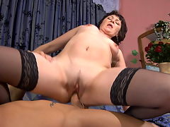 Emilia and Govard naughty mom on video : Emilia is a fat butt mature who is about to fulfill young Govard and aposs fantasies of bagging some nasty mature cunt. She shows that fat juicy ass of hers off and he wants every bite to count so he whips out his rock hard boner and plows right into that tight soft pussy and delicious meaty ass of hers until he can and apost hold his cum in any longer. He goes a few more thrusts and kapow! He busts a fat juicy nut deep inside her tight pussy and butt.