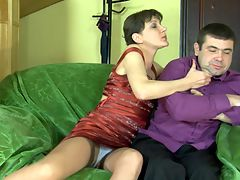 Linda and Bobbie awesome mom in action : Linda knew her lust for some hard young cock would be rewarded but when Bobbie showed up with his stone rigid dick she knew she was going to get a fucking she would never forget. The lad zeroed in on that nasty mature cunt and slammed that shit so hard doggystyle that she almost fell off the chair. She moaned and shrieked as he took his fat juicy dick and rammed her tight soft pussy until his sticky salty sperm erupted from his balls and filled her to the brim.