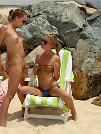Blue Angel and Sara Jaymes Beach Fun - 622011 : passionparadise01