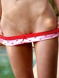 Kasey shows off her cute pink panties