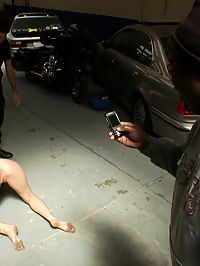 Emo Babe Fucked in Public by James Deen : James Deen knows how to treat a lady right! Drag that bitch to the local auto body shop, tie her up, fuck her face, and let strangers fondle her helpless body!!!