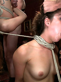 Princess Donnas Birthday Bash Part 2!!!! : Today you get the second half of Princess Donnas birthday bash complete with cum covered faces and cake covered asses, upside down suspensions, cock sucking, and general partying!!! Boo ya!!