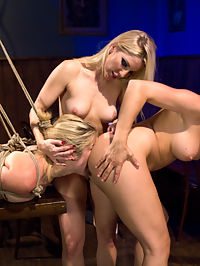 Lesbian cuckold fantasy : Lets welcome newcomer Lia Lor to Kink.com! This is Lias first time shooting at the Armory and her very first time in bondage ever, although youd never tell because its obvious that this all natural petite blonde was made to be tied up and teased. She loves it!In this sexy roleplay update we continue showcasing the increasingly popular lesbian cuckold scenarios! Lia and Chanel are girlfriends who both want to fuck the same bartender. Lia learns very quickly that she will always remain at the feet of her goddesses and only used to teas and deny. The girls do this to the point Lias pussy is pulsating and swollen with desire. She suffers so beautiful and does so with such a genuine gaze in her beautiful eyes you almost feel sorry for her. Almost.