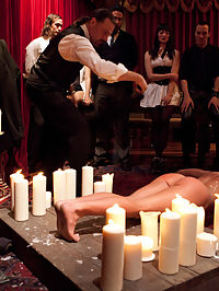 Slave Initiation buffy : This evening marked a milestone in TUF history, as we initiated our first lesbian slave. We have never allowed this prior to this event, but felt that after what she went through during her training, she has earned the right to be here. All of our slaves are trained to serve any and all that request them, and buffy is no exception. She may not take real cock, but she is more than willing to be dominated by men and fucked with toys.Besides her strong body, she also is equipped with a strong mind that allows her to stand up to the torment dished out in the House. Her physical ability is put to the test for all to see and her endurance amazes all that are present. She is put through all the physical rigor that the average person can take and shows she can take more. She is pushed for the rest of the evening with torment, bondage and fucking machines ony to come out of all of it proud and feeling accomplished.We give you, Ariel X aka buffy, the newest addition to The Upper Floor.