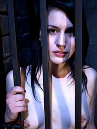 Slave Training of Katherine CaneDay 1 : We have a very new and inexperienced newcomer that has petitioned to be trained. She has done some cam work for us here at Kink, but this will be her first real shoot. She is locked in a cage and left for me to find her the next day to start her training. I interview her still locked away to try and evaluate what we need to focus on during her training. She seems very enthusiastic and a willing masochist, so we release her from the cage to see if we can turn her into a decent submissive.We start with some predicament bondage to test her ability to process pain. This pain slut immediately shows that she can back up her claim to be a masochist. There is impact play, brutal nipple torture, but its the orgams that we run into a problem with. It seems that she has reservations about other people giving her orgasms. I quickly realize that this comes from insecurities on her part. This is something that can be changed, but it has to be handled carefully, as to not make it worse.We spend the rest of the day working on bringing her to orgasm and making her comfortable enough to achieve orgasm by another hands.