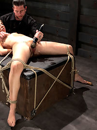 Slave Training of Chastity LynnDay 1-Finding her purpose : Chastity shows up not knowing anything about our site except you train slaves, right?. She never took the time to review the site, much less how we train slaves. Her naive attitude intrigues me enough to want to move forward with her training.She is interviewed and then we test her integrity by giving her the task of retrieving rocks from the bowels of the armory. Upon evaluating her reasoning behind the rocks selected we find she doesnt work well under pressure.I want to know what makes her tick and I find quickly that she is a rope slut along with being very submissive. She is suspended in a brutal split, penetrated with a dildo, and subjected to evil nipple torture. We then move on to working on orgasm control for the final scene, which is what she thought she needed help with.