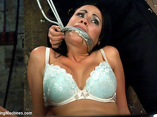 Her Body Tied Up, Her Legs Bound and Caned, Her Pussy full on Machines : This is a special update where we take on a girl who needs to be topped to really have a good orgasm. Since we are the orgasm messengers, we oblige and fuck the shit out of her perfect pussy. The Fucksall doesnt ask permission or give a damn when shes had her first orgasm. This machine wants her 12th orgasm or her 50th or her very last, can take no more orgasm. Machines do not care and Ashli is in over her head with bondage, the stinking whack of the cane and machines.