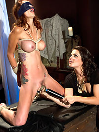 Monique Alexander is your Whipped Ass Girl Of The Month! : Monique Alexander may be a famous porn starlet but that doesnt stop Bobbi Starr to use her as she pleases and introduce her to the dark world of lesbian BDSM. Monique has no clue what BDSM is and has genuine reactions to OTK spanking, flogging, caning and dominance and submission. Bobbi doesnt falter a bit when her friend cant help but nervously laugh instead she just stuffs her pretty stocking feet in her mouth and strap-on fucks and fists Monique like shes never been fucked before! Ive included an hour long bonus after the closing interview of awesome behind the scenes footage that really gets in the head of this famous starlet!
