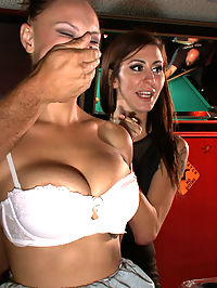FIRST TIME ANAL!!! Big natural tits in bondage!!! : Alexia is a hot blond with huge natural tits and a virgin butthole. Not for long! Ramon and Princess Donna bring her to a bar full of strangers, who manhandle Alexias hot bod while it gets abused like never before. Alexia is thoroughly humiliated before she takes Ramons giant cock in all her holes. She may not be the sharpest tool in the shed, but at least shes good for something.
