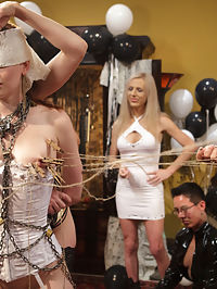 Justine Jolis Whipped AssElectrosluts LIVE and PUBLIC all girl birthday BDSM orgy!! : If you didnt catch this PUBLIC ALL GIRL ORGY live you are in for a treat! We have all the hottest action packed footage edited down in one nice hot lesbian orgy package for your viewing pleasure! Whipped Ass and Electrosluts united to throw Justine Joli the biggest sexiest lesbian BDSM orgy she could dream of! Watch as Justine makes all her fantasies come true by being spanked by a room full of stranger, getting fucked by a room full of strangers and flogged, clamped, humiliated and fisted in one intense lesbian BDSM orgy extravaganza! All the ladies were horny, all the ladies were hot! This is one live and public birthday party you do NOT want to miss!Dont forget to check out Electrosluts.com to see all the hot electrosex action!