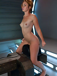 A REAL Amateur Girl From Underwear to Machines : Jodi Taylor fell out of a catalog and onto the FuckingMachines set. She is soooooo cute and perky and has no idea what is about to happen to her pussy. BUT she is willing to try and to tell us yeah or nah as we delve into brand new territory for this amazingly hot all natural babe. First, a little wanking to get the pussy juices flowing, then out comes The Queen - a fine machine that eases a decent size cock all the way into her pussy and slowly retracts with the same, steady rhythm. The Queen does her job very well, and after a nice little orgasm, Jodi is willing to go a little bigger and a little more badass. She fucks four machines and on her third her pussy has had enough. But that just means its time for the Sybian because even though Jodi is an amateur she is still 20 which means we all know she can take a fucking and reload! Here she is making her Kink.com debut, our new favourite amateur, Jodi Taylor.