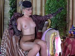 Linda E modeling in pantyhose : In her pink sheer robe and sexy lacy pantyhose blonde Linda has gotten you to get a hardon and she is going to own your thick meaty member right there in near her mink coat. She stuffs that thick hard cock of yours so deep into her sweet little cunt that both of you almost explode. She knows you and aposre turned on by sexy svelt sheer pantyhose and she and aposll ask for a fat juicy nut in all her holes.