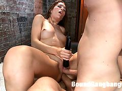 Brand New Girl Tries Anal and DP for the First Time in Take Down Scene : Zarena Summers is as fresh as they come. New to the industry, never been dped, never been gangbanged, never tried much of anything really. She gets taken down to the ground by 4 men and has all her holes used. She cums hard while double penetrated, and wants to come back for more!