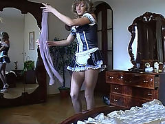 Nora in awesome pantyhose video : Pretty maid Nora is one hot nylon whore who is kickin and apos ass in her sleek smooth pantyhose. She knows those pantyhose get your dick good and hard and that and aposs what she craves most is your thick meaty member to screw into her tight little pussy. That lovely womanly form of hers and the sensation of her sweet lacy pantyhose is why you and aposll be screwing this horny show off in every hole she has.