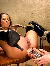 Naughty French maid Cecilia Vega is punished and strap-on fucked. : Cecilia Vega returns to Wiredpussy for more of Princess Donnas unique brand of BDSM. In this role-play update Princess Donna is not happy with the new French maid she has been sent from the agency. Instead of sending her back Donna decides to teach this maid a lesson that involves lots of electricity, huge anal toys, bondage, hot wax, strap-on fucking and more!