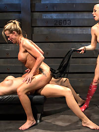 Hot MILF Stepmom fisted and double penetrated by step daughter and her best friend! : Chanel Preston is tired of her hot stepmom always getting so much sex and under the same roof as hers! Chanel and her best friend Lorelei Lee decide to give Chanels stepmom, Simone a taste of her own medicine and show her whos boss. What better way than giving her a good dose of hot lesbian punishment and sex?! Simone is spanked, fisted, uncomfortable bondage, made to worship her step daughters ass, pussy tortured and double penetrated! So taboo!