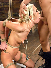 Hot Little Blonde Gets Taken Down! Rough and Kinky Sex : Maia Davis lives out a fantasy where she is completely overtaken and mercilessly fucked in bondage! Mr. Pete turns up the heat in this sexually charged and intense scene. Maia struggles to get away but her attempts are futile. She is taken down, manhandled and fucked into oblivion!