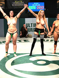 SAY IT BITCHES! Massive 7 Girl Orgy! Fisting, Squirting, Strap-on Sex! : TAKE THAT TEAM RED! Now you get to suck some big green cock!!!! After a brutal Tag Team Match, Team Green Mistress Kara and Princess Donna, finally pull into the lead and get to fuck the living hell out of the losers! Massive 7 girl fuck fest with fisting, humiliation, first time squirting, and lesbian strap-on fucking, all in front of a live audience. And, of course, as a final touch of power, Princess Donna makes Izamar say, Princess Donna never loses unless she wants a fist in her tight cunt. You can tell she doesnt want to say it, but she can tell she has NO FUCKING CHOICE! Boo Ya!