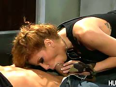 Brooklyn Lee, This Aint Expendables XXX : Red Haired goddess swallows big cock