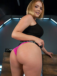 Round,Perfect Ass, Sexy Full tits and Long Orgasms from Machine Pounding : Krissy Lynn is a member requested model and one look at her ass and it is obvious why she is in such high demand. Krissy is an industry sweetheart and as famous as they come. She has won awards, she fucked everywhere and every which way but today she experiences cold steel fucking. And like everything else Krissy does, this update shows how much she loves to shag. She dirty talks to you in the second set with the Bunny Fucker. So if you like filthy, nasty talk from a hot babe, then skip right to scene two. She moves her body like a skilled dancer, so we give Krissy the handheld treatment so she can grind and shake without loosing the cock that is pounding nice, creamy, orgasms out of her pussy with every stroke.