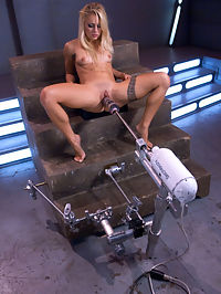 New Girl fucks Machines until she Squrts all over a Big Black Dick : Cameron Canada has a perfect all natural body that is tight and fit. She has done mostly only cam work and has recently decided to take the plunge into full shoots. FuckingMachines offers a kinky welcome for this hot blonde who fucks so hard she finally squirts in the last scene with the Trespasser. Her face says it all - she has never had orgasms like this before. From just one look at her ass when she first walks in and bends over, we can tell its going to be a good day. And Cameron does not disappoint with her sexy body and sloppy orgasms that have her pussy dripping cum.