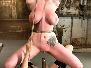 The Cattleprod : Please welcome Berlin back to Wiredpussy. It has been over a year since the last time she was featured on this site, but it was surely worth the wait. She comes back ready to face an even harder and more challenging shoot than her first one. She gets completely immobilized shocked and caned in a latex corset and neck binder. Then her sight is taken away by the blackout contact lenses, while Princess Donna helps her get over her fear of the cattleprod. Her tits are tied up, and her nipples and clit get some serious suction. Then she must work hard to get fucked as she struggles to reach Donnas cock while her throat is held up by rope. This is an epic Wiredpussy shoot, dont miss it!