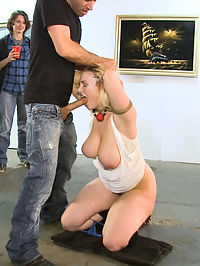 GIANT NATURAL TITS Put on Display and Violated at Art Gallery : Siri has giant natural HH tits. Perfect for tying up and parading around town. James Deen and Princess Donna use and humiliate her as only the two of them can, cover her in cum and send her back to the streets naked and used up!