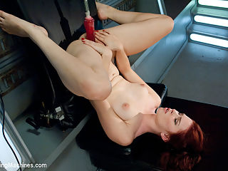 Sassy Red Head with Gorgeous Long Legs Fucked OUT by Machines : Melody Jordan is a bomb-fucking-shell. Long, strong, and ready for whatever cold steel can deliver between her creamy thighs. She is quickly becoming a porn star after her amateur start here at Kink.com. Today we see her raw and stretched out trying to wring every last drop of cum out of her sweet pussy.