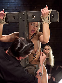 Opening up Anikka Albrite Day Two : What is an excellent way to break a slave down quickly? Put them in the room with Goddess Aiden Starr. Within a few minutes, Aiden is in Anikkas head, and within an hour she is fist deep in Anikkas pussy.