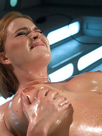 Meaty Pussy Pounded by Machine Powered Cock : Watching Krissy Lynn grab the sides of her pussy and cup it around the dildo as it rams her, is enough to nut. Her swollen clit, her thick lips, her pink hole getting wetter and pinker and the cock slips in top speeds. It is a thing of beauty that you get to see all at once with nothing blocking your view. That and the ass shot of her on the Sybian grinding her already worked over clit until she cums one last time. Krissy Lynn makes sex look so good.