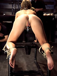 Training Chastity Lynn Day 5 : Chastitys final day will test her her on all levels of her training, from boot blacking to obedience to cock service. She endures extreme torment along with brutal fucking with hopes of graduating to slave status.