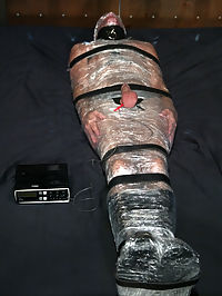 What you will see in this update Beautiful dominatrix Harmony Rose tormenting bill into oblivion, total mummification, electrocuted balls, tied up, fucked in the mouth and ass with a night stick, bent over and fucked with a strap on, fierce nut pulling, foot sucking, clothespins covering his nipples and balls, armpit licking, and tons of fucking, sucking and multiple come shots.