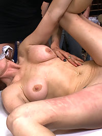 Gaping Asshole Fucked in Public : Well known mega-whore Audrey Hollander is taken to a porn shop by Ramon Nomar and Princess Donna. Inside she is blindfolded and made to suck strangers cocks, fisted, and fucked in the asshole, and made to gape her ass as wide as possible!