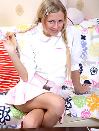Rebellious blonde in pigtails gets her ass brutally penetrated : Kelsie is a blonde teen whos sick of living by her strict foster parents rules. Shes ready to rebel in the best way she knows how - making her own hardcore, personal sex tapes! She isnt taking the easy way out, either. Kelsie wants her asshole stuffed with hard cock, and despite her inexperience, shes ready to have her ass brutally penetrated!