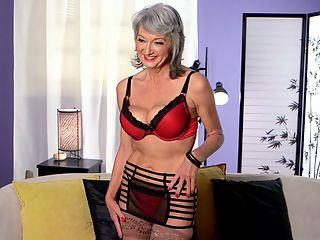 Cheyannes dirty little secrets : Now its time to get to know Cheyanne, a 52-year-old newcomer from Oklahoma born in Arkansas. This entertaining interview with Cheyanne was conducted after Cheyanne fucked the guy she fucked in yesterdays photos and tomorrows video. Its kind of a post-fuck interview, but we also get to know a lot more about this first-timer.br br A few things about Cheyanne Shes married. She has C-cup tits and measures 36-24-35. She used to be an accountant. Shes a nudist. She became a swinger about a year ago. Shes into domination, and she told us, I dont have sex nearly enough.br br Well, whos to blame for that, Cheyanne? The way you look, you could have sex whenever you wanted.br br Cheyanne talks about her first scene. She talks about guys cumming on her face, something that hasnt happened much in her life. She talks about having sex with another man while she was talking to her husband on the phone. The best part was when she handed the guy her phone, and he talked to her hubby while he was fucking Cheyanne. Woah!br br These 50somethings...theyre full of surprises.