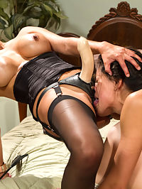 Bad Luck Lesbians! A lesbian cuckold stepmotherdaughter drama : Lyla and Brooklyn Lee, two horny lesbian co-eds, get caught red handed in Lylas mothers house having filthy lesbian sex! What the college girls dont know is that Francesca Le has played the same game when she was in college and decides to give the girlfriends a taste of their own kinky medicine! Brooklyn gets put in a female chastity belt and made to watch Lyla get spanked, clamped and punished with a harsh wooden paddle Whipped Ass style! They worship Francesas pussy then Francesca straps it on and fucks her step-daughter in bondage deep in her pussy and ass right on top of Brooklyns face!