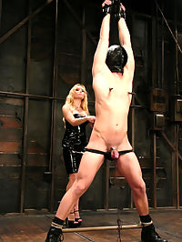 You smell like fear, little boy. Nothing makes Mistress Aidens pussy more wet than torturing cute little boys like Daniel. Mistress is expert at combining pleasure and pain, and she makes Daniel work for it, doling out three parts pain, dominance and humiliation to one part pleasure. Who said she was fair?