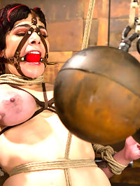 Annika - Complete Edited Live Show : Welcome Annika back to HogTied and under the most intense conditions we can subject our bitches to - the live show. In scene one, Annika is given stressful predicament bondage with one leg attached to the pulley and a rope attached to her neck. If she struggles, she asphyxiates... pretty simple but also pretty brutal. Claire delights in tormenting her with corporal and humiliating her by tying a dick on a stick into her cunt and making her fuck it. Annika cums hard, live, and ready for more. In scene two, our former Russian trained ballerina is bound in a HogTied classic position - standing pole arch. A crotch rope is added and not one but two of our heaviest balls are hung from her tender cunt. We get to see her clit turn an incredible shade of purple. Claire adds to the intensity of the bondage by tying Annikas gag to the back wall, bending her into a tits up super hot arch. Then comes the single tail. No matter how much Annika struggles, she has to submit to the pain. Pleasure then comes to her sensitive clit in explosive orgasms through the crotch rope and then in her cunt. Finally, Annika is bound Live in an intricate ball suspension. Clover clamps are applied to her outer labia and attached to her toes. Claire goes after Annikas ass, squeezing orgasm after orgasm out of our pretty ballerina.
