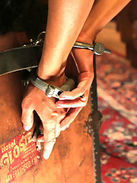 Daytime Fantasy - Electrifying Indulgence : A lonely vintage store owner spends a great deal of her day taking inventory and pricing her collectibles until a bombshell of a customer drops in. It doesnt take long before ideas spread like wild fire into delectable fantasies.Sinn has longed to use her found toys to shock and stimulate a submissive slut. The audible shock box pulses with electricity through Berettas tight pussy as she is fucked by the rigid shaft.Bound by the throat, shackled in place and balanced on her tip toes, the brunette in distress must maintain her position or be rewarded with a surge through her breasts. This excites Sinn. Watching her submissive struggle to please turns her on.But what is the point of having a sexy slut in your hands if you dont fuck her good. The violet wand is dragged across her body and jolts with every thrust of Sinns strap on. She is fucked until Sinn cant take it anymore.