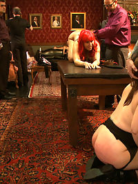 Newbie Flogging Brunch : Slave applicant Kristine Kahill is tied to the cross and offered up to the Brunch guests.Slave Flogging, Pussy Eating, Crawling slaves, Fucking Machines, Group Sex, Ass Spanking, Deep Throat Cock Shucking, Pussy Fucking, Suspension Rope Bondage, Nipple Biting, Clit Licking, Hot Blonde Getting Fucked