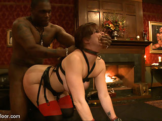 New Years Eve! : Bella, Dylan, and Odile are the entertainment for the Upper Floors New Years party! Odile is made to wear a dildo gag, and the guests play pin the clothespin on Bella whenever she moves.