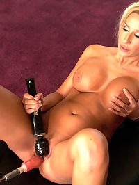 BONUS Full Rack Friday Blonde to Warm you up for the SUPERBOWL GO SF! : Brooke Fox is very new to porn and she tries her best to keep up with the machine orgasms, but she runs out of steam after just a couple machines. She looked so good trying and her sexy tanned body and big tits was too good to send home. So we shot what we could of Brooke and then watched her have a big feel-good orgasm on the Sybian and then set her home happy.