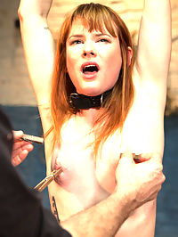 The Training of Claire Robbins, Day One : the InterviewShe is told to peel off that hot little dress and sniff the cuffs. A thick dildo stands bolted to the deck. Once the leather is wrapped around her limbs and throat, she is told to fuck the rubber cock. Now the questions begin...Dirty TalkTied down on her back, the metal pipe arm looms over her, shoving a black headed vibe tight against her little pink twat. As the bucket fills, the clamps pull at sensitive nipples. Can she orgasm through the pain?the PunishmentShe is bent over my knee and her first punishment is administered. Her ass is bounced, slapped and objectified. She is bent over and spanked like a bad little girl. She is fucked with a dick on a stick and made to orgasm over and over till she is a good girl again.the RewardShe took her punishment like a good girl. Now she is to be rewarded. Up in ropes with a vibe tied to her cunt. Pussy plunged with a fat rubber cock. Multiple, screaming orgasms ensue. What did she learn?the Homework Come back able to recite one filthy fantasy.