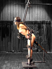 Kristina Rose Captured and fucked in extreme bondage positions : Kristina rose may be the perfect woman for some. She has a sweet and welcoming presence and a petite physique with adorably small breasts. To see such a perfect specimen crushed is, well....thats why were here!Orlando enters a sinister scenario of Kristina bound in a straight-jacket and hung upside down with her pussy and milky white flesh exposed. Orlando finds various creative ways to torment her, the highlight being an impressive double zipper.Scene two finds Kristina presented in pipe bondage that presses her perfect little body into an appealing posture. Her nipples are tested with clamps and weights and her cunt is stuffed with a huge immobile dick on a stick.The finale is a hardcore pile-driver position that reveals Kristina to be an anal whore as she is pounded in the ass with a fucking machine while begging to cum.