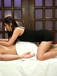 The Massage Parlor Marica Hase : The stunningly beautiful Japanese girl Marica Hase gives us an amazing scene with rough sex and bondage! In this fantasy role-play, Marica works in a massage parlor as a prostitute and gets busted by a renegade undercover cop. He turns her into his sex slave and fucks her relentlessly in strick bondage. A must see!