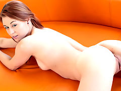 Copper haired hottie Sage Evans gets deep and dirty with her vibrator