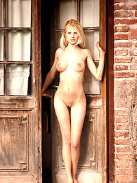 Remember : Busty blonde with ever-erect nipples by the door.