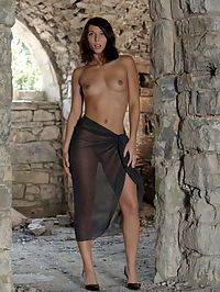 Nikita : Nukita drops her black cloth and start to pose and show her nice naked body at the vaults